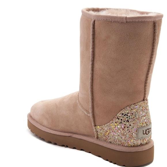925bc348296 NEW Womens UGG® Classic Short II Glitter Boot
